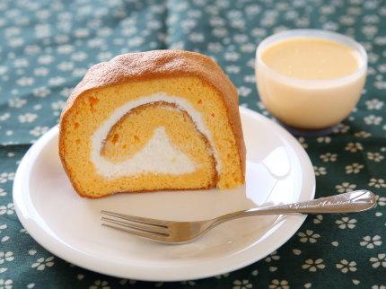 ロールケーキ、プリン