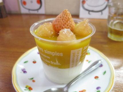 マンゴージュースとマンゴーヨーグルト