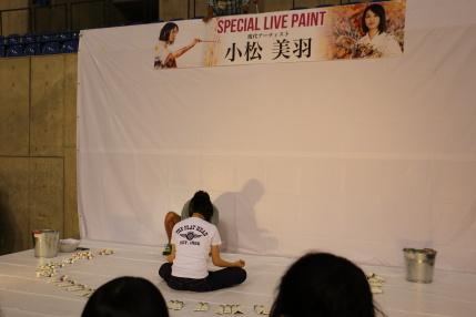 小松美羽さんのLIVE PAINT