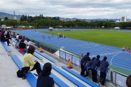中学生の陸上競技大会