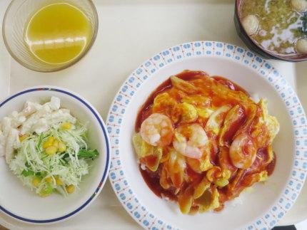 満足定食(海老入り天津飯)620円(税込)