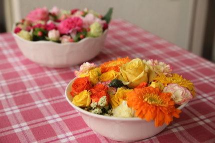 綺麗に飾られた花