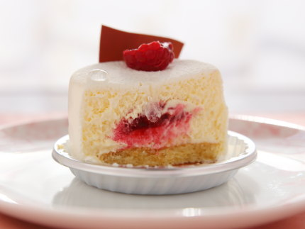 レアチーズケーキの中