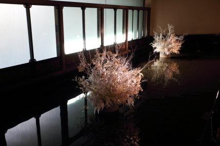 木を白く染めた飾り