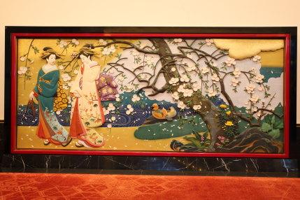 日本画の壁飾り