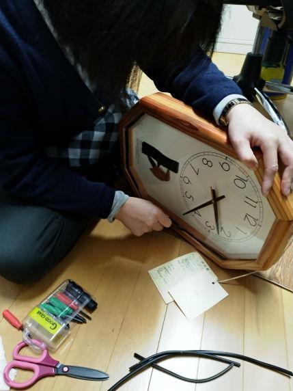 掛け時計の針や部品を交換