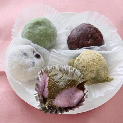 5品の和菓子