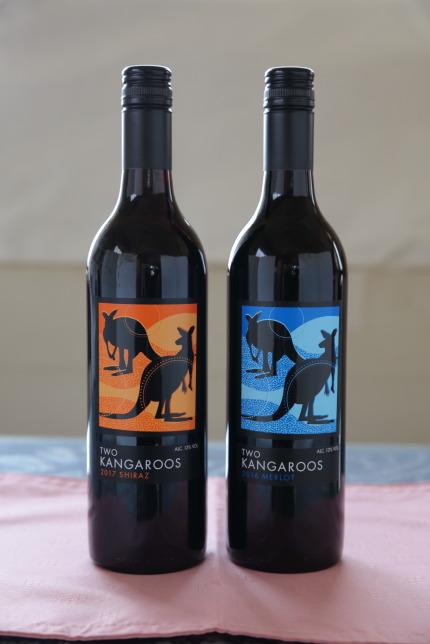 TWOKANGAROOSの赤ワイン2本