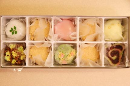 わらび餅と上生菓子6種類