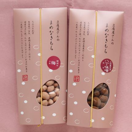 豆腐屋さんのまめなきもち紀州の梅と八丁味噌各350円(税別)