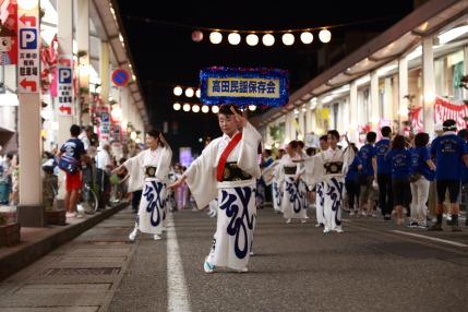 高田民謡保存会さん達の踊りは、美しい