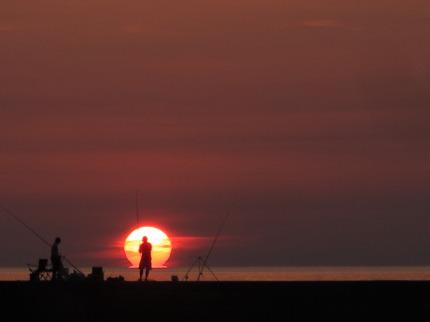 絵になる夕日