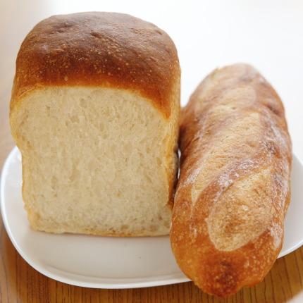 食パンにバゲット