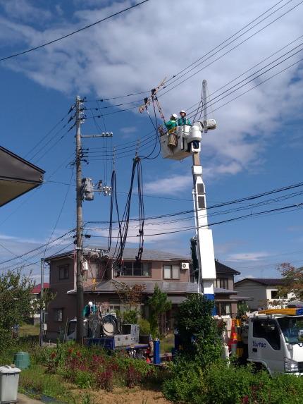 電線の張り替え工事