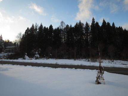 10cmくらいの積雪