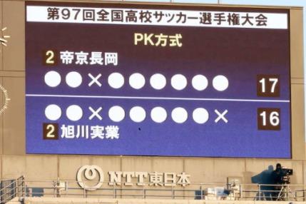 PK戦17対16