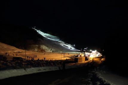 スキーが出来るくらいの雪