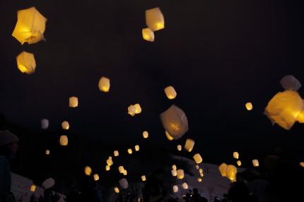 灯のオーロラLEDスカイランタン