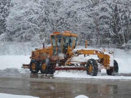 大きな除雪車