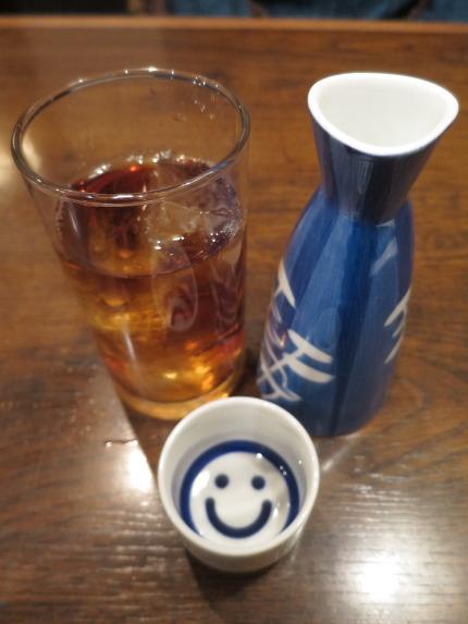 ウーロン茶と日本酒鮎正宗