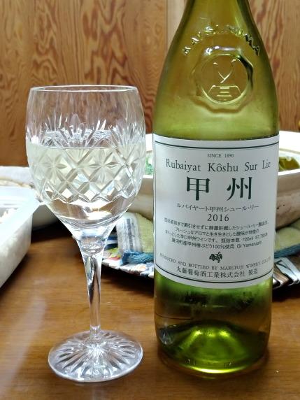 丸藤葡萄酒ルバイヤート甲州シュール・リー