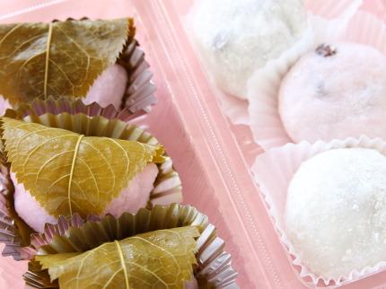 桜餅と大福