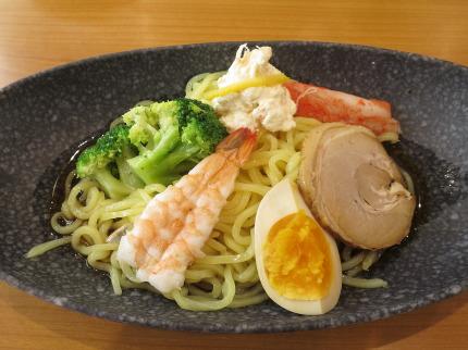 7種の魚介だれ冷やし中華はじめました(糖質オフ麺)380円税抜