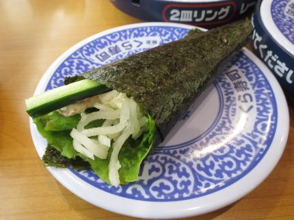 シャリ野菜えびマヨ手巻き100円税抜