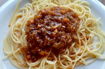 洋麺屋ピエトロ蟹のペペロンチーノ