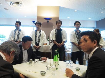 新潟第一酒造の武田社長さんや醸造責任者、岩崎豊さん