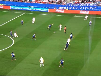 なでしこジャパン対イングランド戦