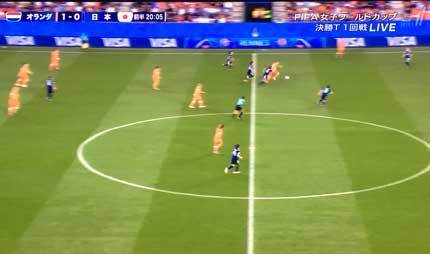 なでしこジャパン対オランダ