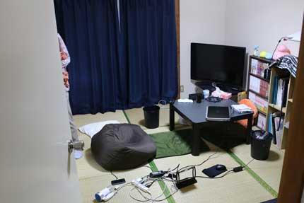長男のアパート