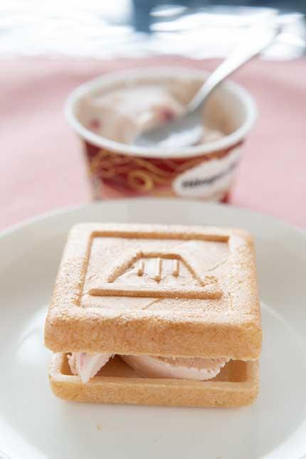 アイスクリームを入れて食べてみました