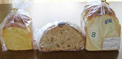食パン2種類とカンパーニュ