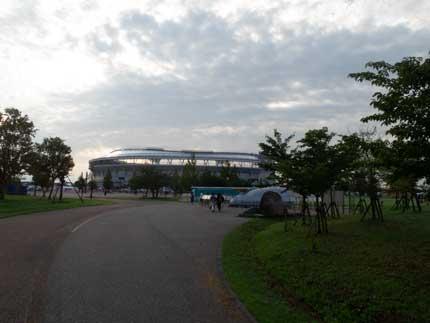 HARD OFF ECOスタジアム新潟へ向かいました