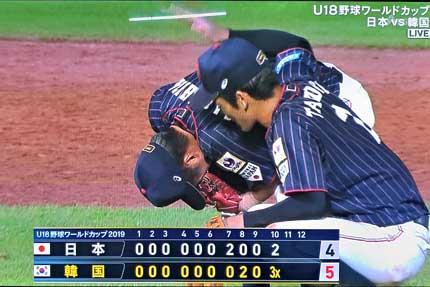 韓国が3点入れてサヨナラゲーム