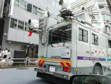 NHKの中継車