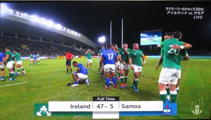 47対5でアイルランドが勝利