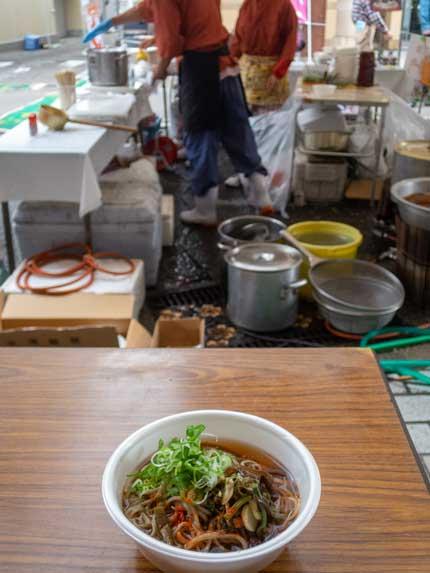 山菜そば600円税込