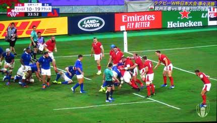ラグビーW杯 ウェールズ対フランス戦