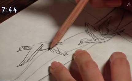 絵を描き始める