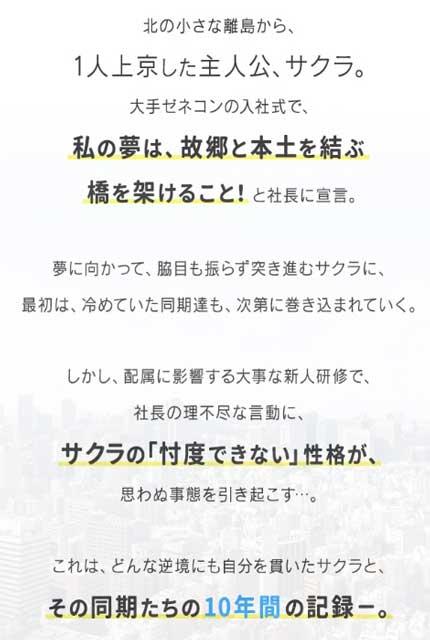 新潟県の離島から上京したサクラ