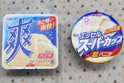 カップアイスクリームの食べ比べ