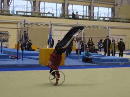 床運動の演舞