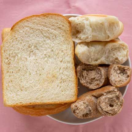 食パン、ベーグル2種類