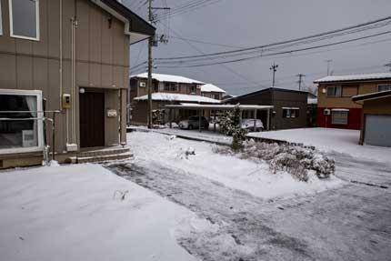 5cm位の積雪