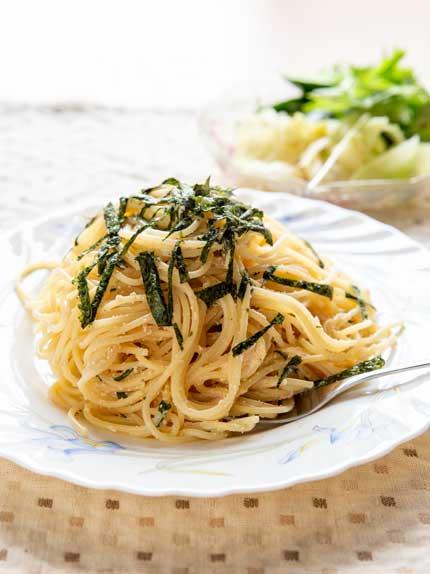 妻特製タラコスパゲティ