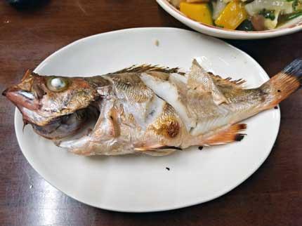 セイカイ(ウスメバル薄眼張)の塩焼き