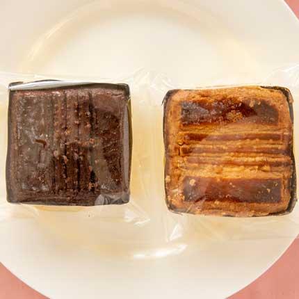 ガレットショコラとガレットプレーン